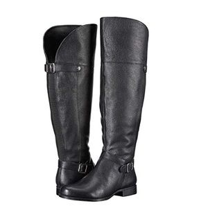 Naturalizer wide calf January tall black boots